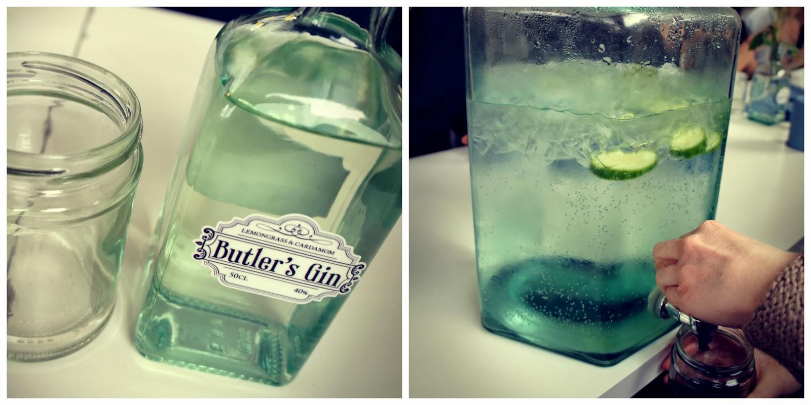 Cocktails on Butler's Gin barge Hackney Wick