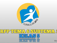 Download RPP Tema 6 Subtema 1 Kelas 5 Edisi Revisi 2017
