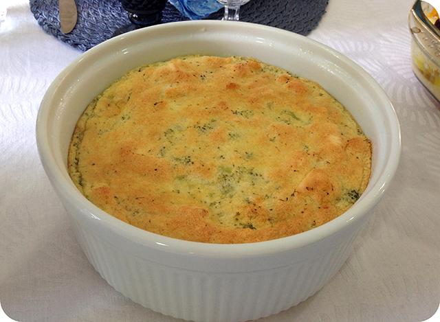 Almoço de Páscoa em Família : Suflê de Brócolis