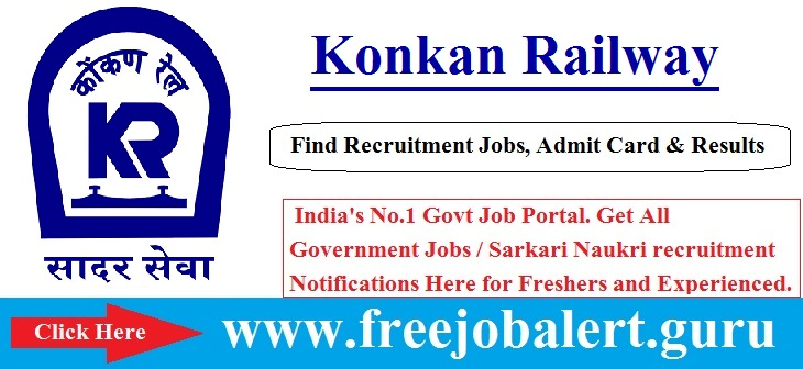Konkan Railway Recruitment 2016-17 | Project Engineer | Management Trainee Posts Selection process will be based on Written Test