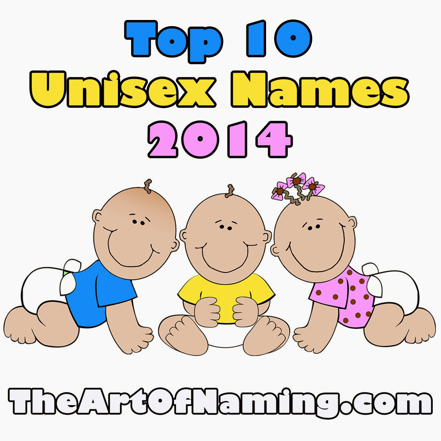 The Art of Naming: Top 10 Unisex Baby Names in 2014