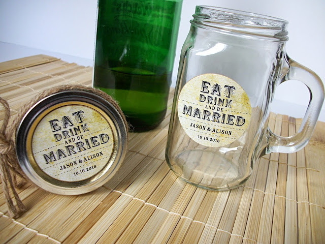 eat drink and be married wedding labels