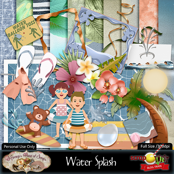 "June Scrap Twist Blogtrain - ""Water Splash"""