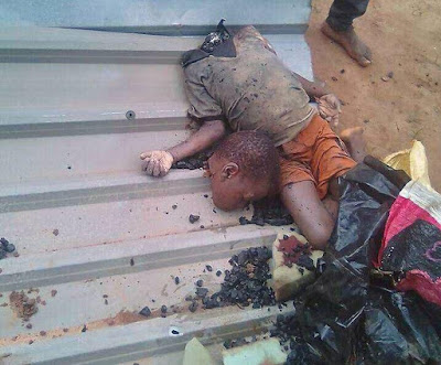 Update: See the graphic photo of the head & decapitated body of the schoolboy killed in Ikorodu