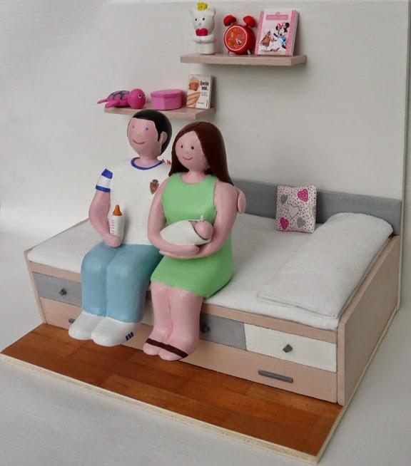 Maqueta personalizada regalo nacimiento bebe