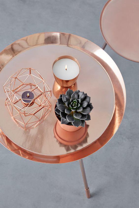 Resultado de imagem para decoração rose gold