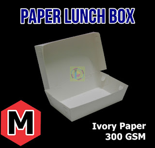 Paper Lunch Box Kertas Makan Nasi Ukuran M
