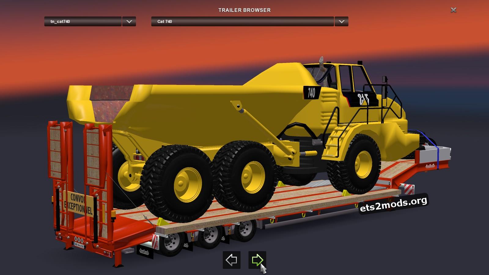 Trailer - Cat 740