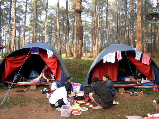 foto camping di grafika cikole bandung