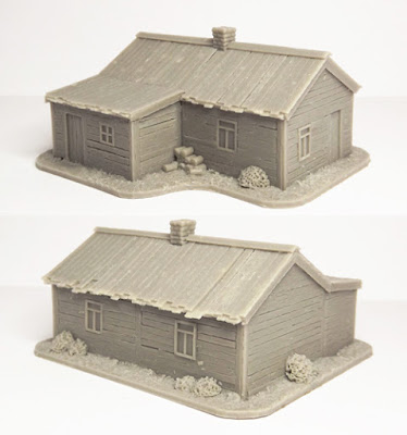 SCN-EF04  Russian house, L-shaped (Size: 75x60mm)