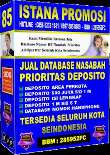Jual Database Nasabah Deposito 2016
