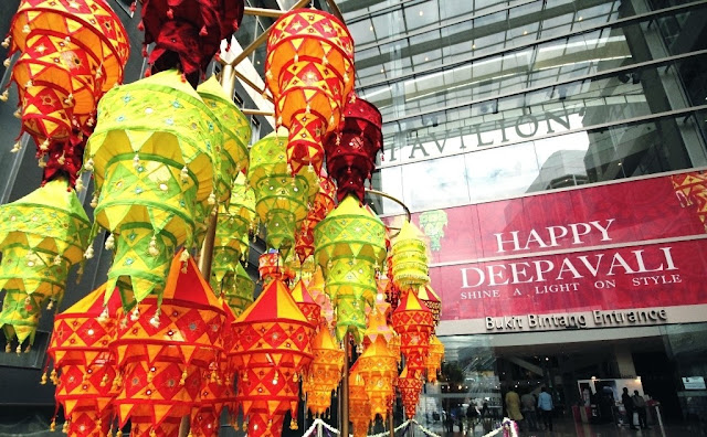 Deepavali, Pavilion KL, festival of light, kolam, lanterns