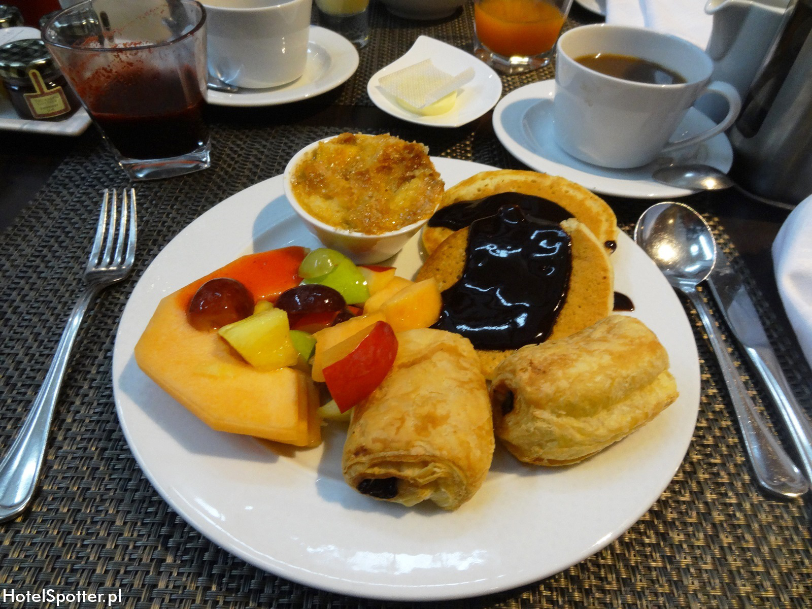 Sofitel Budapest Chain Bridge breakfast