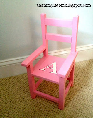 diy doll chair refinished