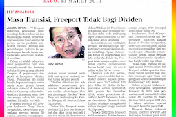 Transition Period, Freeport Does Not Share Dividends