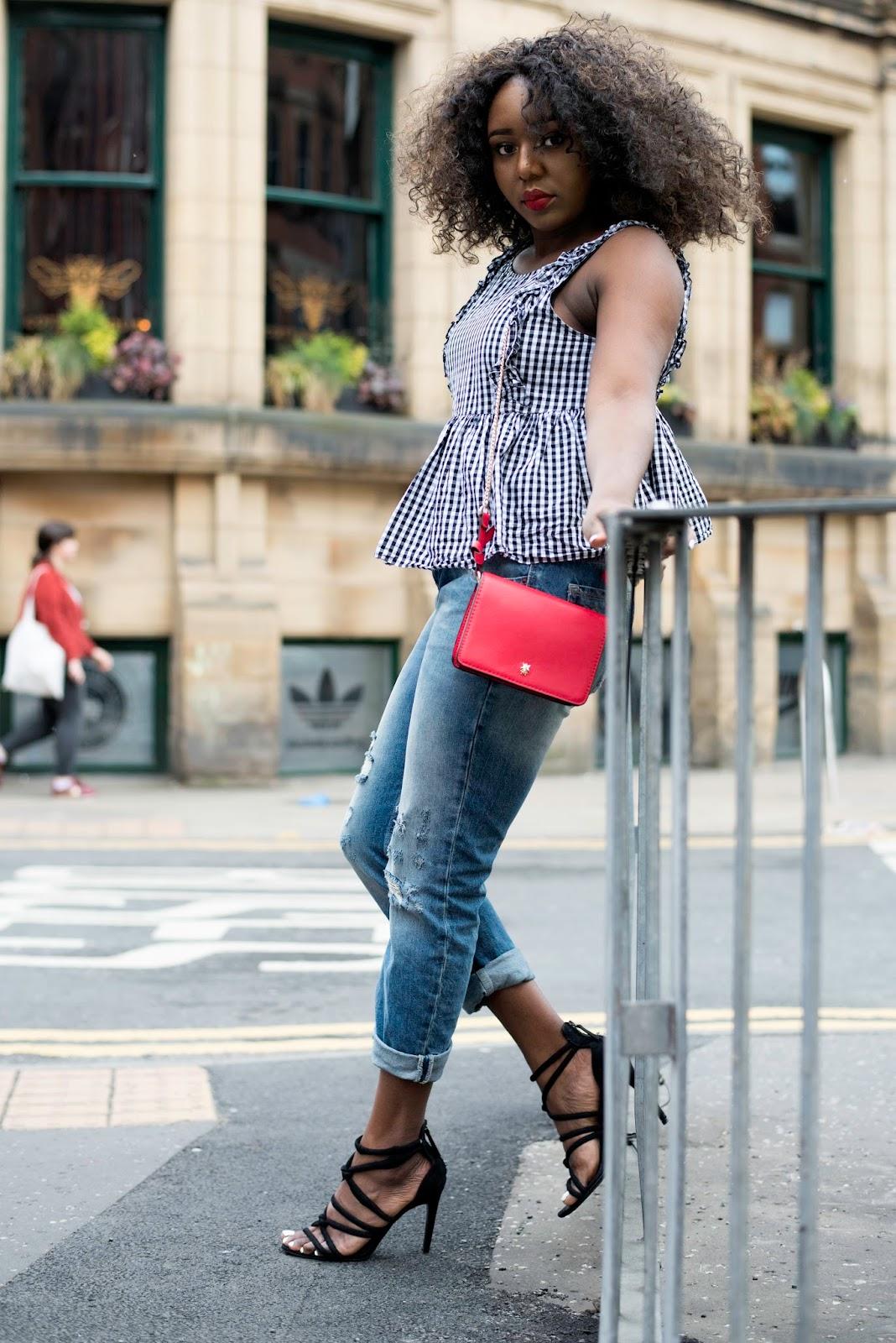 Stephylately styling a gingham top Zara
