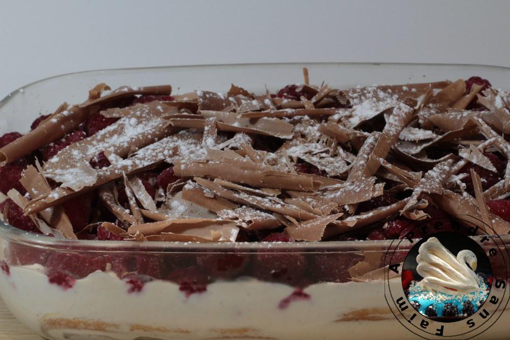Tiramisu express limoncello framboises (pas à pas en photos)