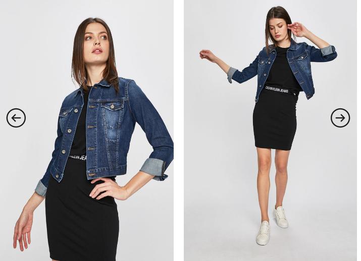 Diesel - Geaca jeans de dama originala albastra moderna