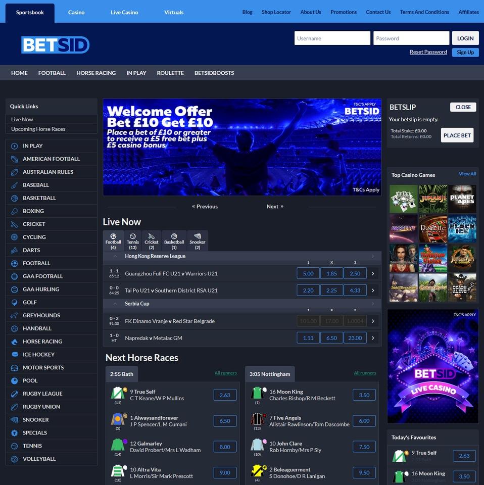 BetSid Screen