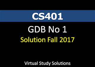 CS401 GDB No 1 Solution Fall 2017