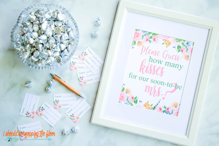 Bridal Shower Kisses Game