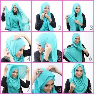 Aneka Gambar Tutorial Jilbab Segi Empat