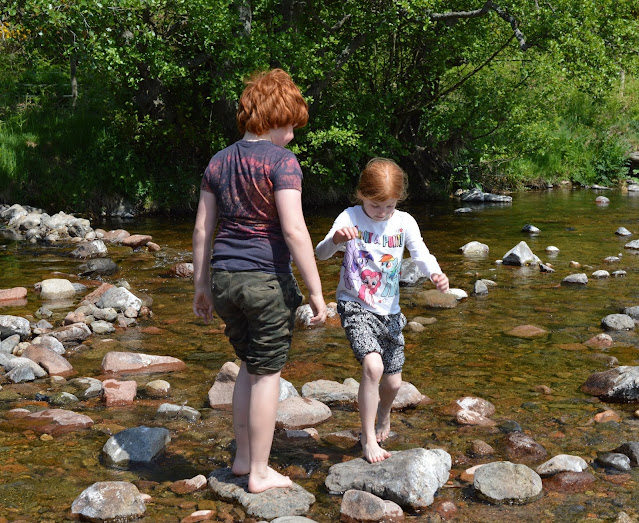 A Family BBQ at Ingram Valley, Northumberland National Park  - river Breamish