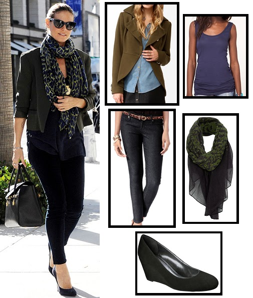 ASOS, celebrity street style, fashion, forever 21, celebrity style, heidi klum, jacket, jeans, project runway, scarf, shoes, street style, super style steals, target, topshop, neiman marcus, get the look, look for less, budget fashion