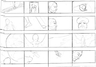 "©2013 Snow Patrol's ""The Lightning Strike"" Storyboards (2 of 6). Artwork by Dulani Wilson. All rights reserved to respective owners."