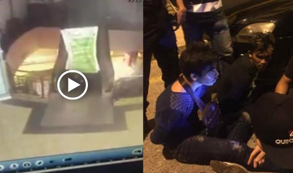 Video : Taktik Dua Penyamun Elak Dirakam CCTV Berjaya Ditangkap