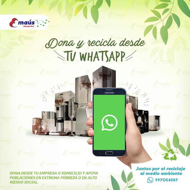 Dona y recicla desde tu Whatsapp