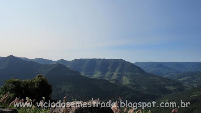 Vista panorâmica do Vale do Arroio do Pinto, Itati, RS