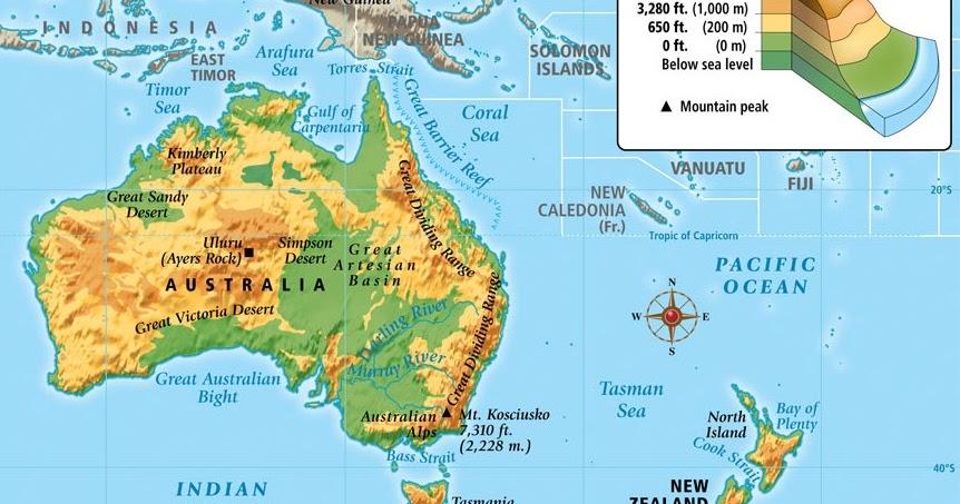 Letak, Luas, dan Keadaan Alam Benua Australia - simpleNEWS05