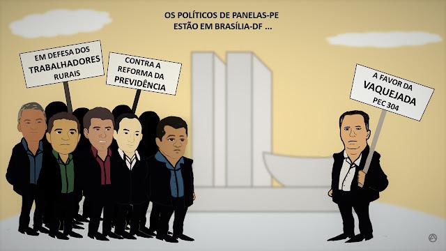 Os políticos de Panelas-PE estão em Brasília
