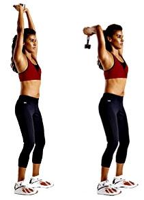 Copa ejercicio tríceps mujer rutina