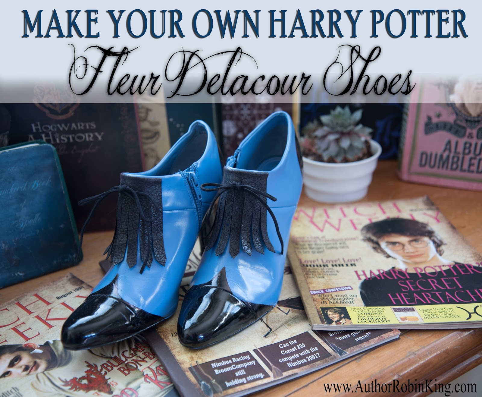 author robin king blog diy harry potter fleur delacour beauxbatons shoes. Black Bedroom Furniture Sets. Home Design Ideas