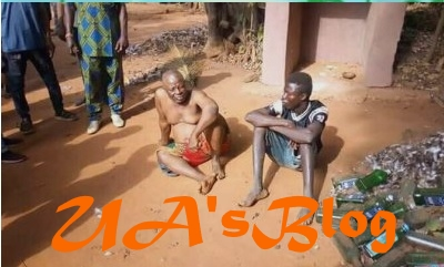 EXPOSED!! Ritualist Who Pays His Boys 10k To Collect Pants Of Virgins Caught And Beaten To Near Death In Anambra State (Photos)