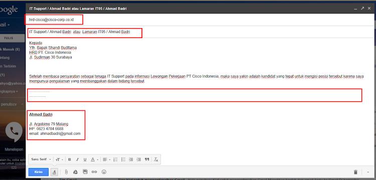 Cara Mengirim Surat Lamaran Lewat Email 2