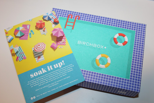 Katie's Nesting Spot: Birchbox August 2015: Soak It Up!