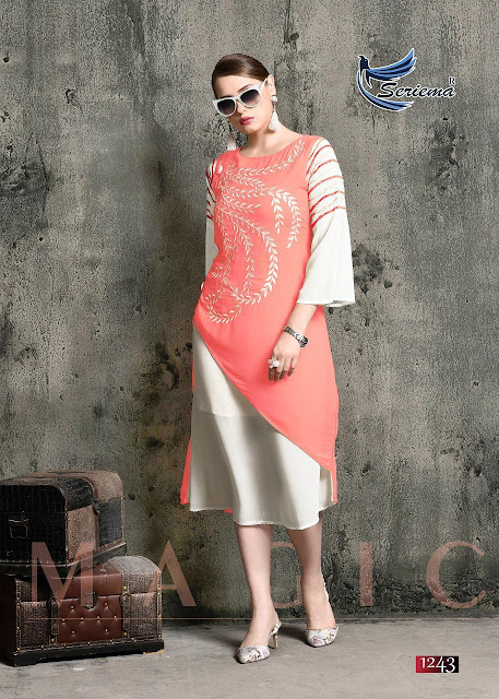 Seriema kumb magic Party wear Western kurtis Manufacture