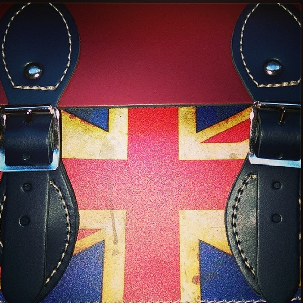 union jack, satchel