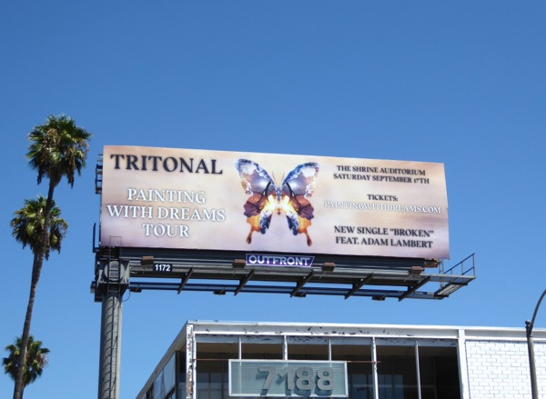 Tritonal Painting with dreams tour billboard