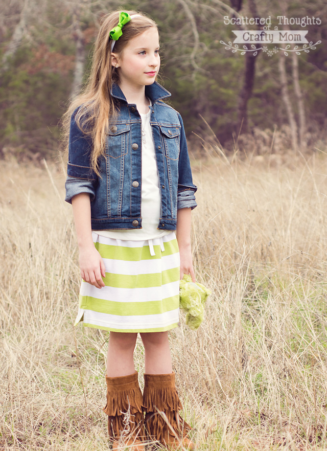 Make a cute skirt with NO SEWING!