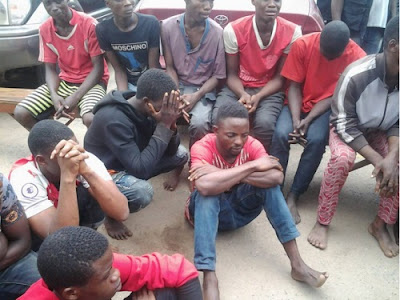 Young Men Busted By Lagos Police During Cult Initiation In A Forest