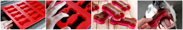 DIY layered gelatin gummy dog treats, step-by-step how to make