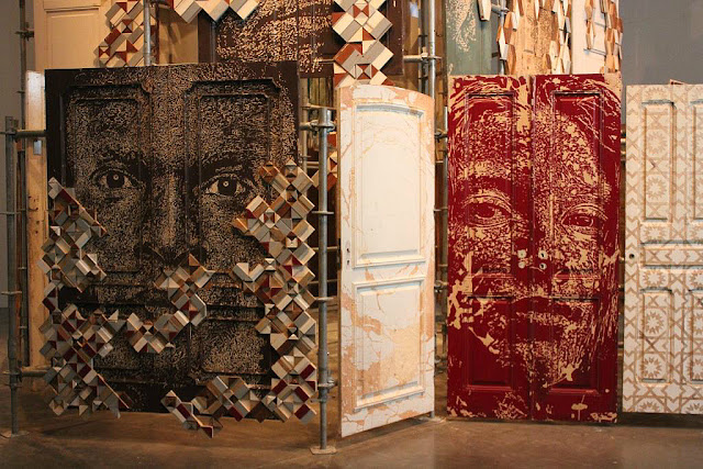 Exposition Fragments Urbains Vhils 104 Paris Street Art sculpture artiste