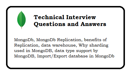 MongoDb Technical Interview Questions and Answers