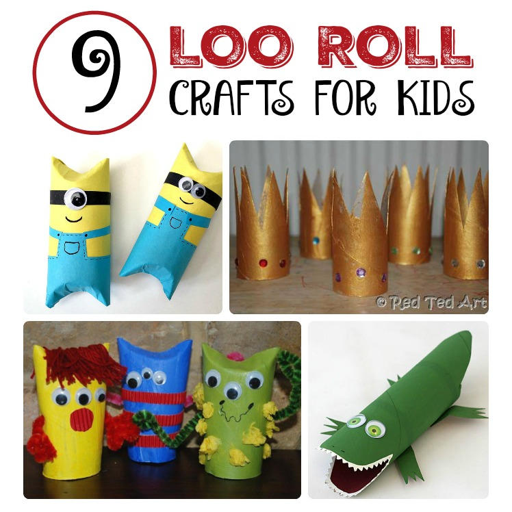 9 toilet paper roll crafts for kids the chirping moms for Toilet roll art for kids