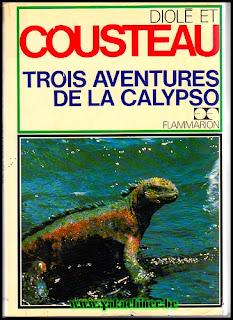 web brocante livres, trois aventures de la Calypso, 1973