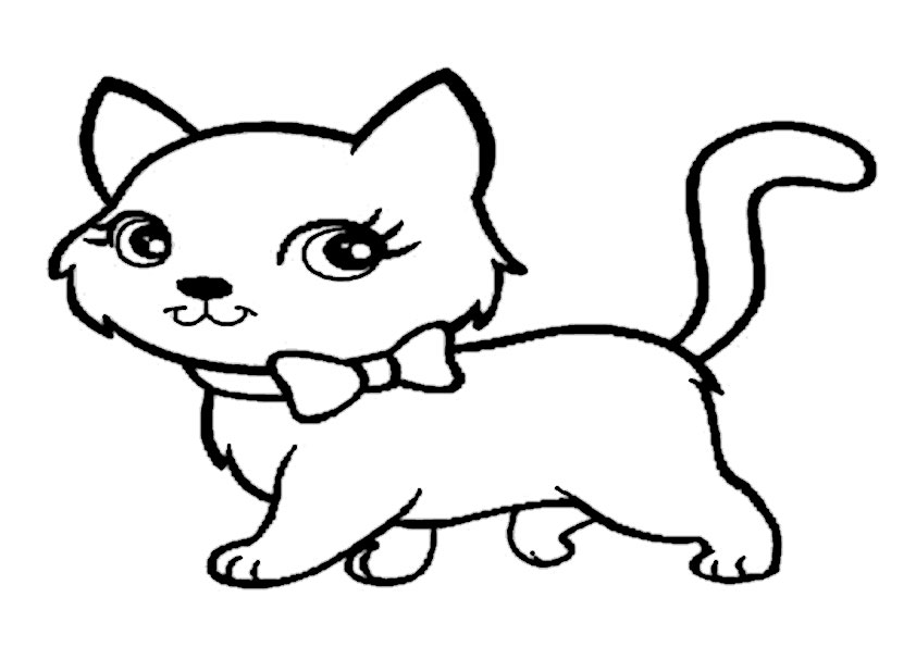 ausmalbilder katzen  malvorlage gratis
